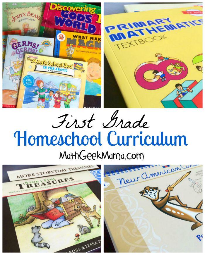 First Grade Homeschool Curriculum Choices
