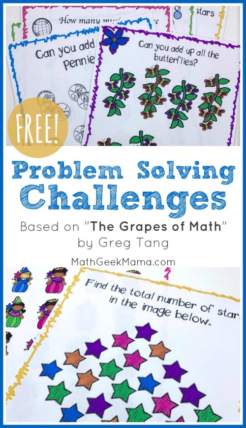 small resolution of FREE Problem Solving Challenges Based on \The Grapes of Math\