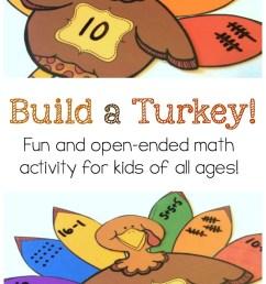 Build a Turkey\ Number Sense Activity {FREE Printable} [ 1244 x 700 Pixel ]