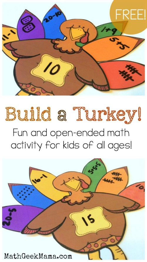 small resolution of Build a Turkey\ Number Sense Activity {FREE Printable}