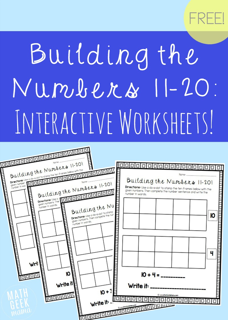 medium resolution of Building the Numbers 11-20 {Free Printables!}