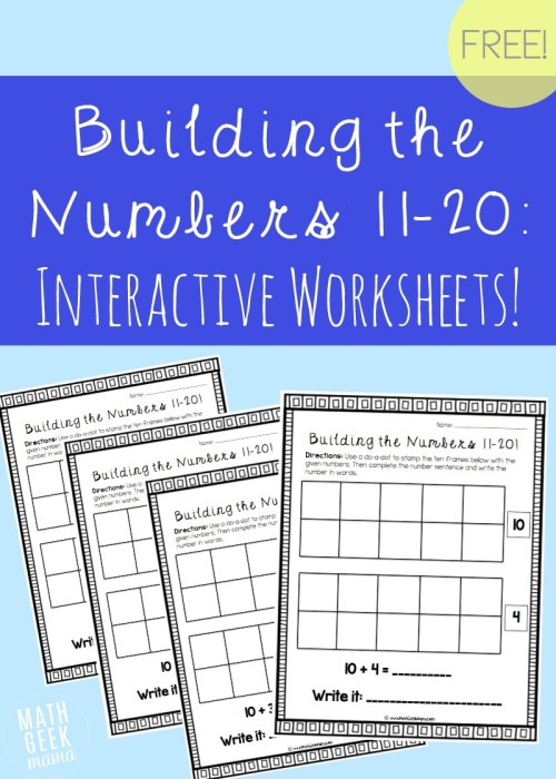 small resolution of Building the Numbers 11-20 {Free Printables!}