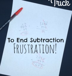 Simple Trick to End the Frustration With Subtraction! [ 1160 x 800 Pixel ]
