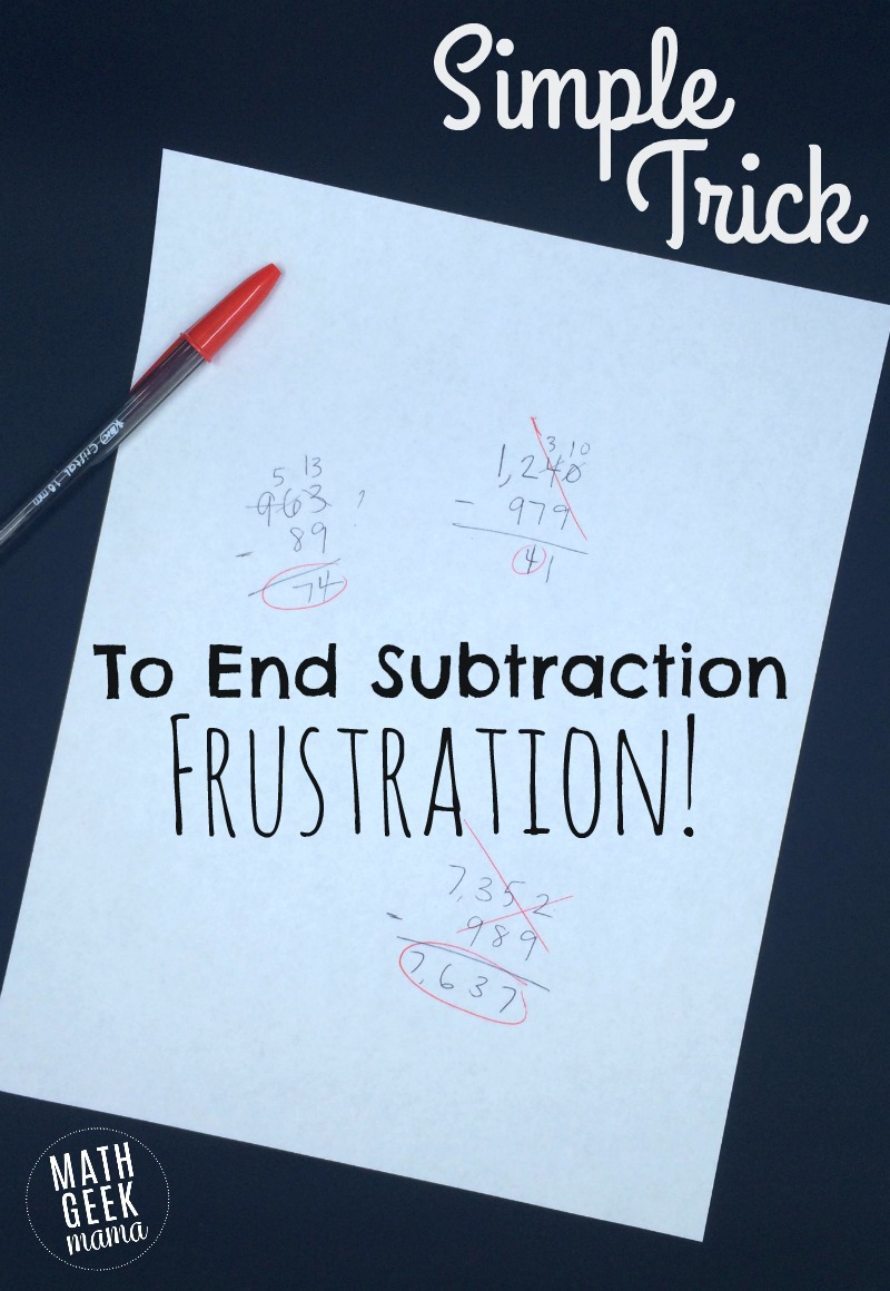 hight resolution of Simple Trick to End the Frustration With Subtraction!