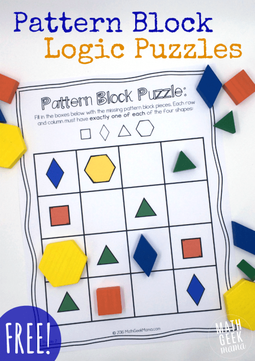 small resolution of Pattern Block Puzzles {FREE}