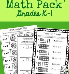 St. Patrick's Day Math Pack {K-1} [ 1273 x 800 Pixel ]