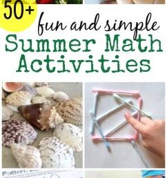 Fun and Simple Summer Math Activities [ 1619 x 800 Pixel ]