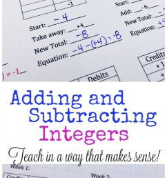 FREE Adding and Subtracting Integers Lesson [ 1570 x 800 Pixel ]