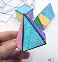Foldable 3D Shapes (FREE Printable Nets!) [ 1009 x 800 Pixel ]