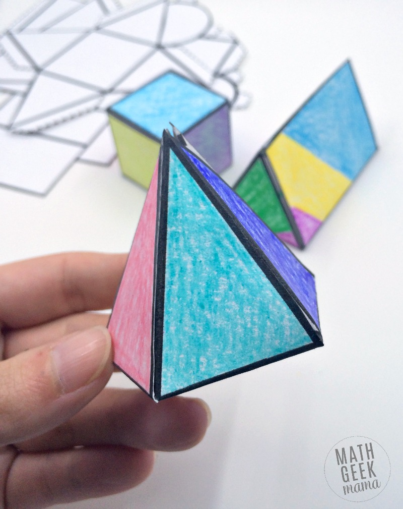 hight resolution of Foldable 3D Shapes (FREE Printable Nets!)