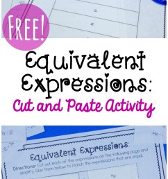 Simple Equivalent Expressions Activity {FREE} [ 1561 x 800 Pixel ]