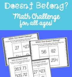 Which Number Doesn't Belong? Math Challenge for Kids [ 1315 x 800 Pixel ]