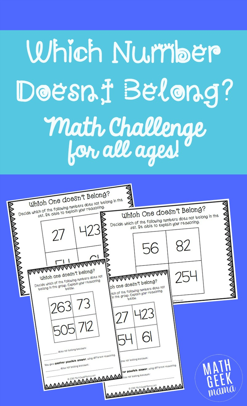 medium resolution of Which Number Doesn't Belong? Math Challenge for Kids