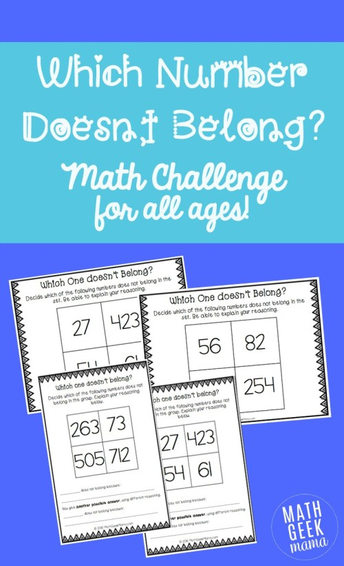 small resolution of Which Number Doesn't Belong? Math Challenge for Kids