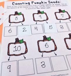 Pumpkin Number Bonds to Ten Cut and Paste {FREE} [ 1071 x 800 Pixel ]
