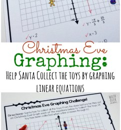 Christmas Challenge: Graphing Linear Equations Practice {FREE} [ 1239 x 800 Pixel ]