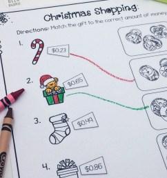 Christmas Shopping: Money Math Worksheets {FREE} [ 988 x 800 Pixel ]