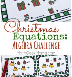 Christmas Equations Worksheet: Unique Math Challenge {FREE} [ 1393 x 800 Pixel ]