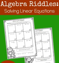 Solving Linear Equations Activity Pages-Christmas Theme {FREE} [ 1261 x 800 Pixel ]