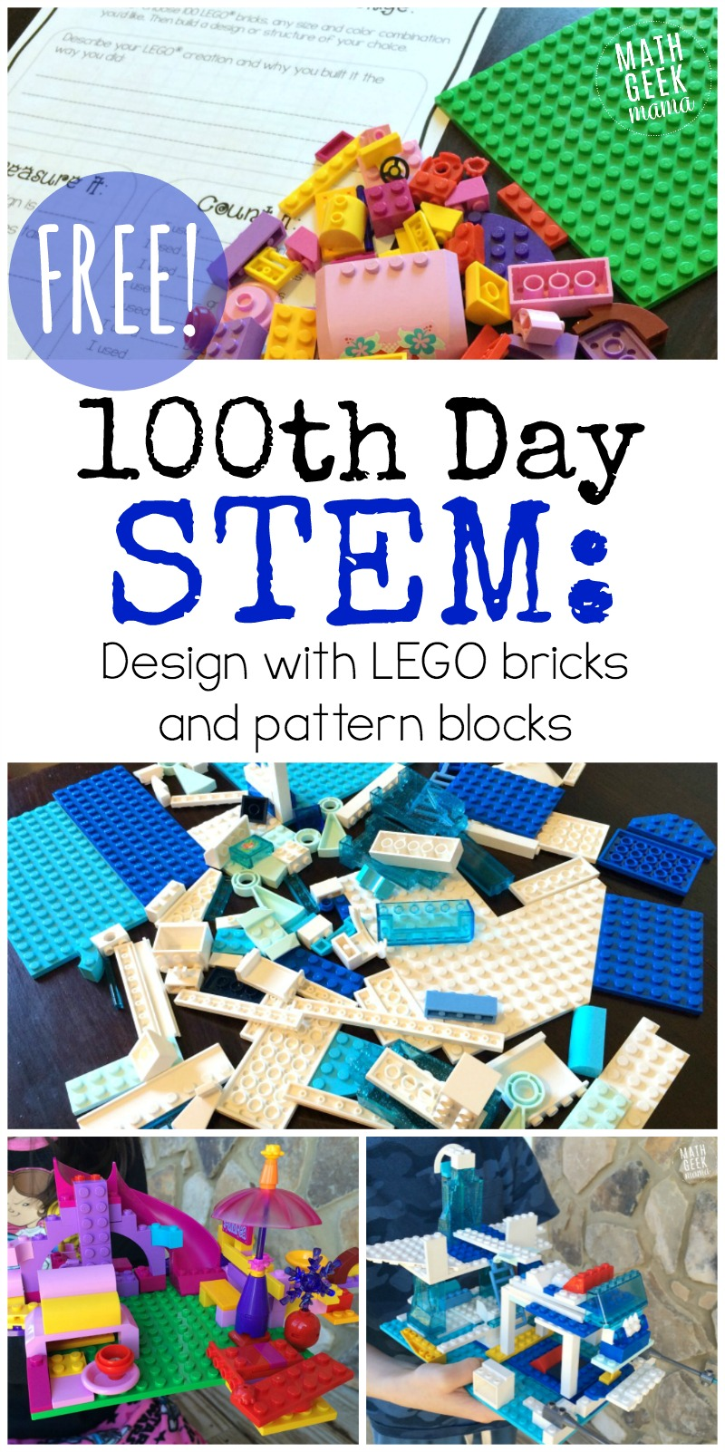 hight resolution of 100th Day of School STEM Activities for K-6 {FREE!}