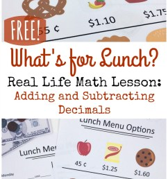 Real Life Adding and Subtracting Decimals Lesson {FREE} [ 1388 x 800 Pixel ]