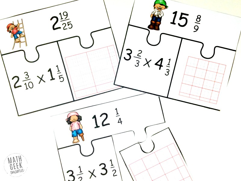 Low-Prep Multiplying Fractions Activity {FREE: Mixed