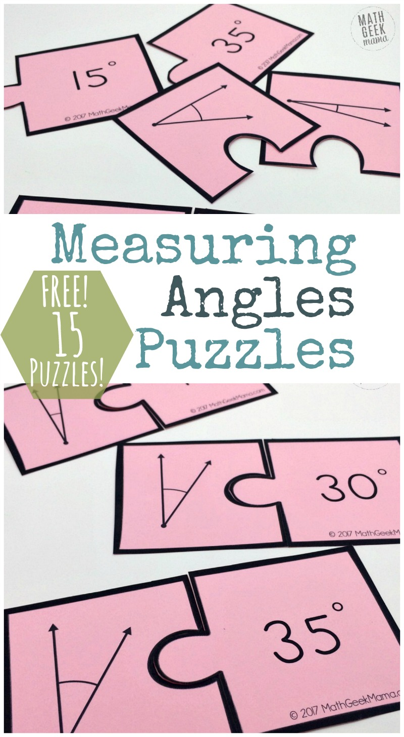 hight resolution of Measuring Angles Activity: Simple and Fun Puzzle Set {FREE}