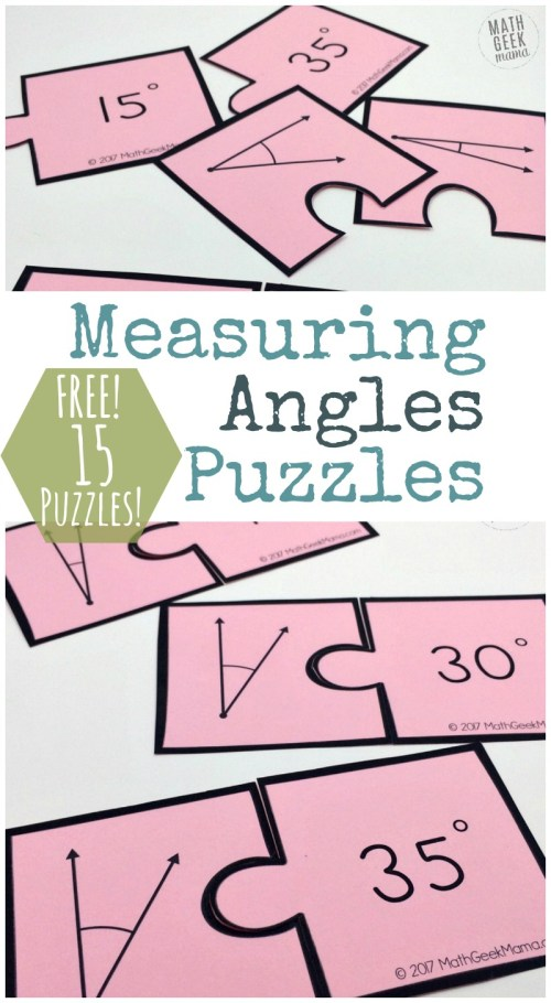 small resolution of Measuring Angles Activity: Simple and Fun Puzzle Set {FREE}