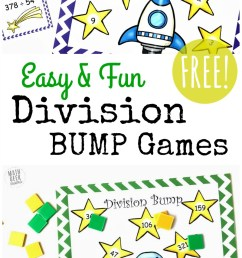 FREE Simple Printable Division Games {1-2 Digit Divisors} [ 1408 x 800 Pixel ]