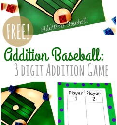 FREE} Baseball Addition: 3-Digit Addition Game [ 1367 x 800 Pixel ]