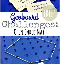 Geoboard Activity Cards {FREE Geometry Challenge} [ 1282 x 800 Pixel ]