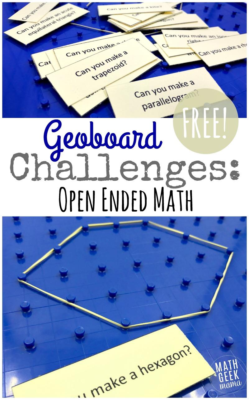 medium resolution of Geoboard Activity Cards {FREE Geometry Challenge}