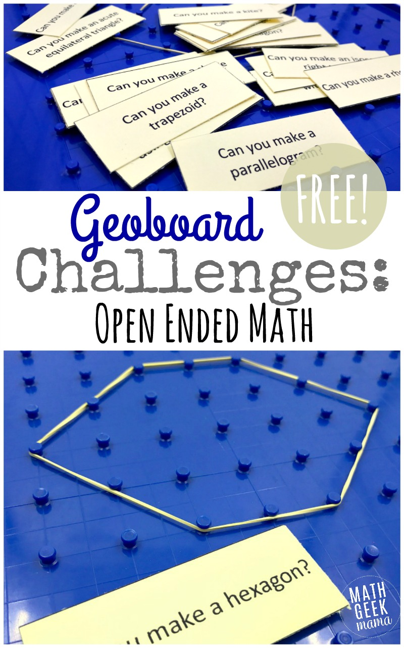 hight resolution of Geoboard Activity Cards {FREE Geometry Challenge}