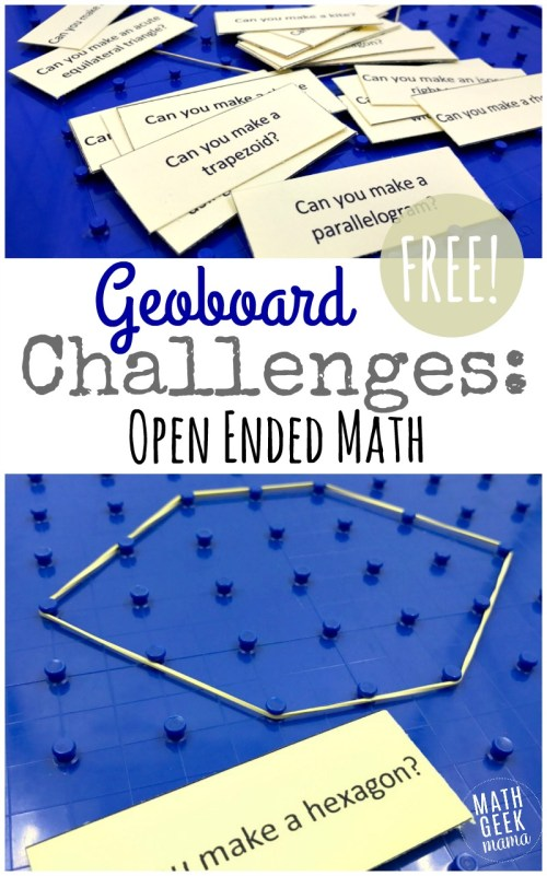 small resolution of Geoboard Activity Cards {FREE Geometry Challenge}
