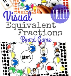 Visual Equivalent Fractions Game Printable {FREE} [ 1402 x 800 Pixel ]