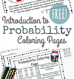 Simple Coloring Probability Worksheets for Grades 4-6 {FREE} [ 1423 x 800 Pixel ]