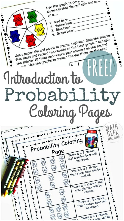 small resolution of Simple Coloring Probability Worksheets for Grades 4-6 {FREE}