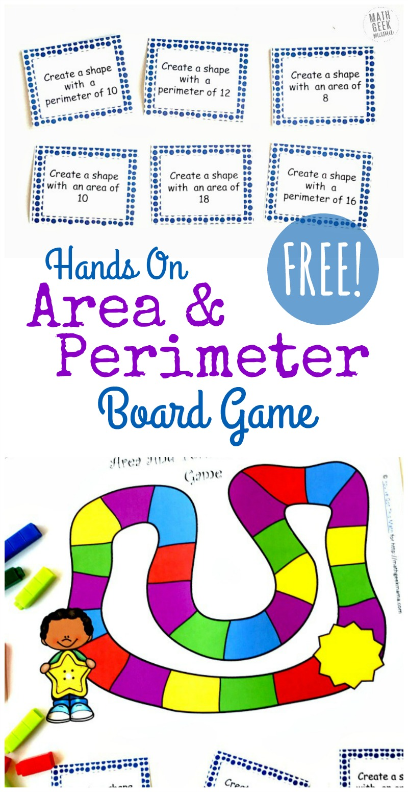 medium resolution of Hands On Area and Perimeter Game {FREE}