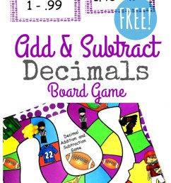 FREE} Adding \u0026 Subtracting Decimals Game for Grades 4-6 [ 1484 x 800 Pixel ]
