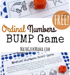 FREE} Ordinal Numbers Game for Kindergarten-First Grade [ 1466 x 800 Pixel ]