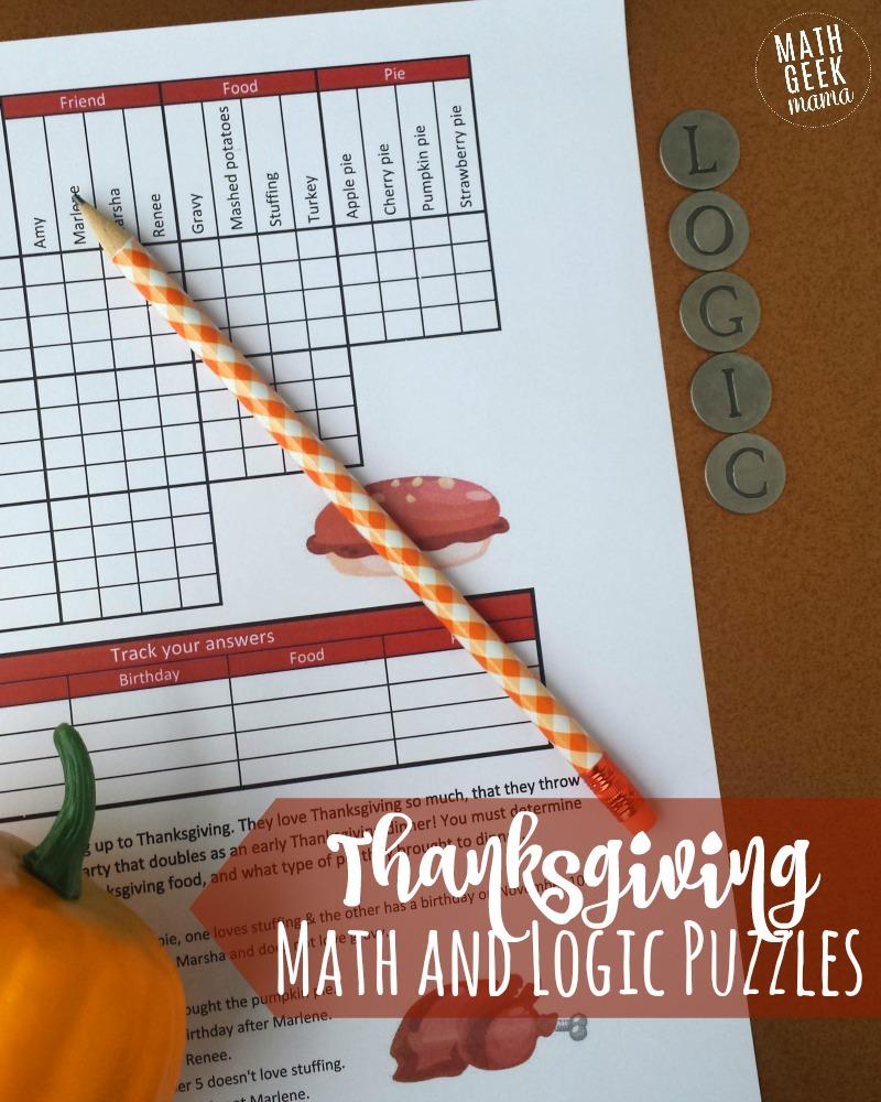 medium resolution of FREE} Fun Thanksgiving Math Puzzles for Older Kids