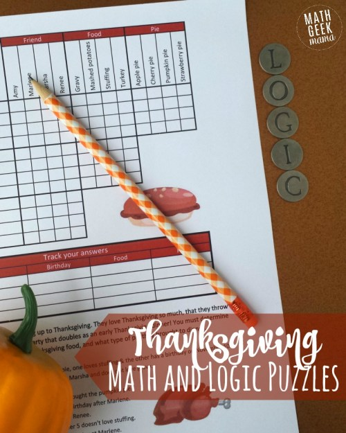 small resolution of FREE} Fun Thanksgiving Math Puzzles for Older Kids