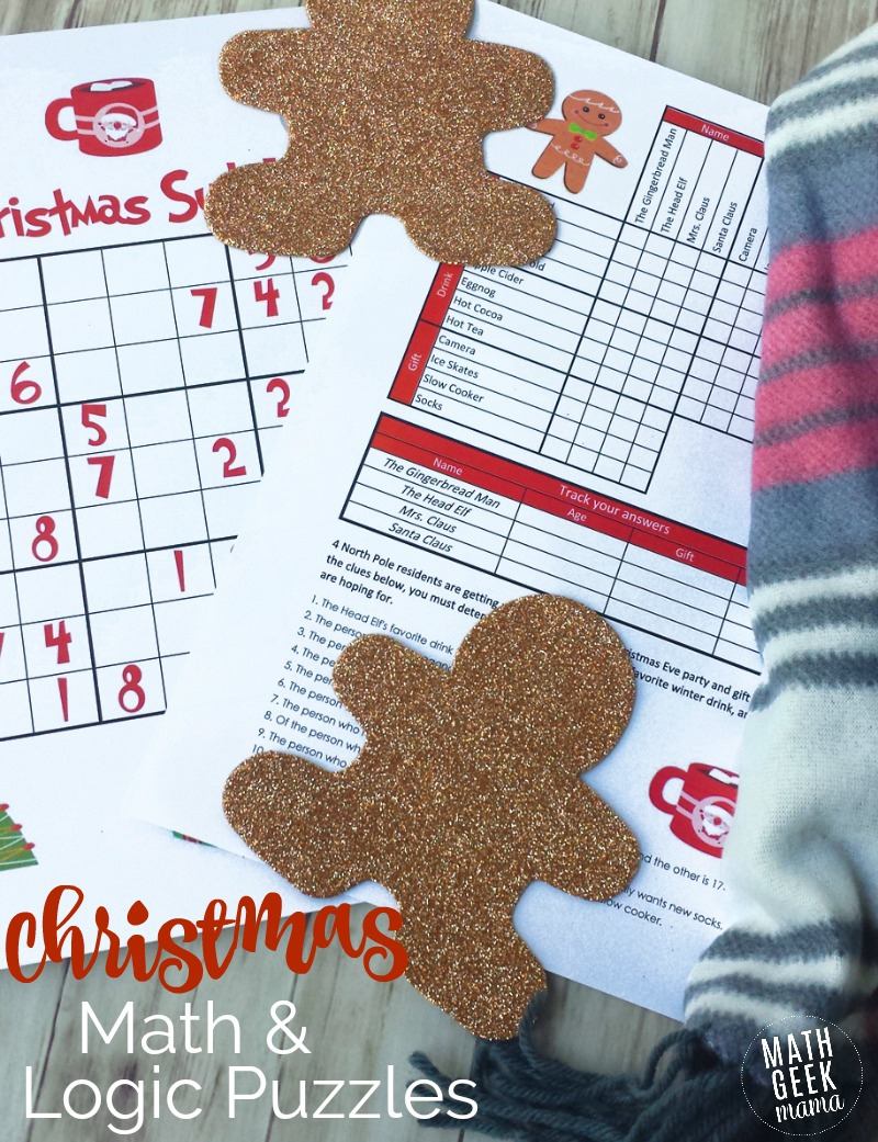medium resolution of Christmas Math Puzzles for Kids {FREE!}