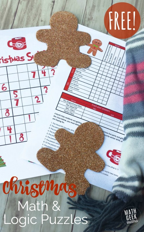 small resolution of Christmas Math Puzzles for Kids {FREE!}