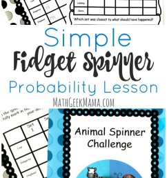 Fidget Spinner Math Activity: Probability \u0026 Graphing [ 1430 x 800 Pixel ]