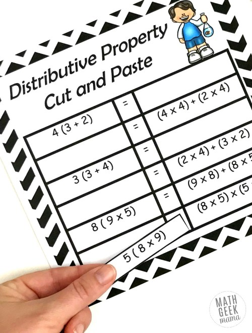 small resolution of FREE} Properties of Multiplication Cut \u0026 Paste Practice