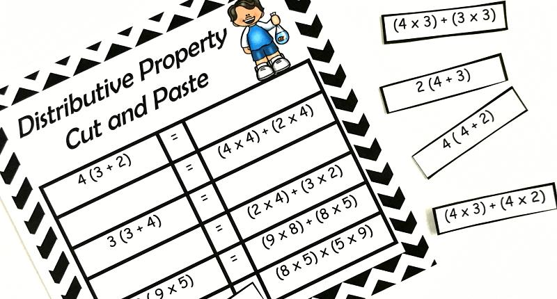 {FREE} Properties of Multiplication Cut & Paste Practice