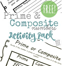 Prime and Composite Numbers Worksheets: {FREE} Activity Pack [ 1395 x 800 Pixel ]