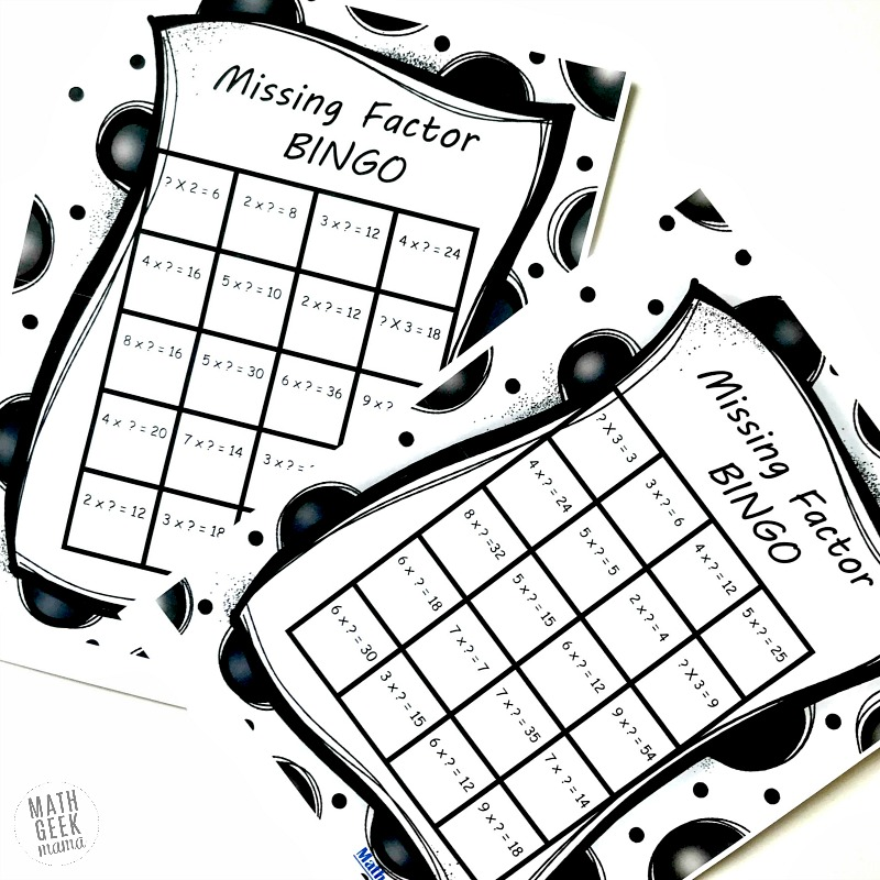 {FREE} Missing Factor BINGO Game: Fun Multiplication