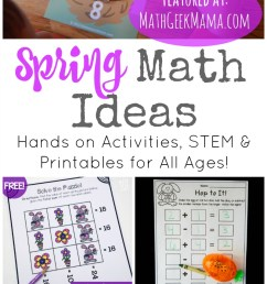 50+ Spring Math Ideas for Grades K-8 [ 1585 x 800 Pixel ]